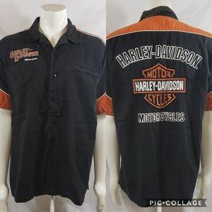 Harley Davidson garage button front sz XL